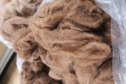Vasket, kartet og uspundet uld - Baby/Royal alpakafibre - gråt