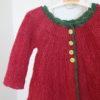 Strikkesæt: Kær cardigan/kjole - håndspundet 100% Baby/Royal-alpakauld
