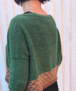 Strikkesæt: Sweater med trekanter - håndspundet 100% Baby/Royal-alpakauld